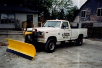 International Landscaping's first snow plow.